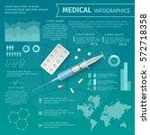 medical infographics. vertor... | Shutterstock .eps vector #572718358