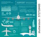 airport passenger terminal and... | Shutterstock .eps vector #572718400