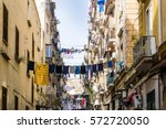 street view of old town in... | Shutterstock . vector #572720050