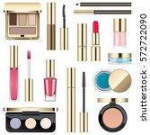 vector makeup icons   Shutterstock .eps vector #572722090