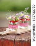 beautiful summer wild flowers... | Shutterstock . vector #572723710
