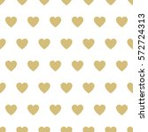 seamless  pattern hearts.... | Shutterstock . vector #572724313