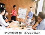 mixed race business people in... | Shutterstock . vector #572724634