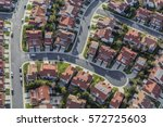 aerial view of typical suburban ... | Shutterstock . vector #572725603