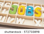 colorful jobs wording   text