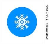 snowflake icon | Shutterstock .eps vector #572741023