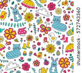 spring doodle pattern. seamless ...