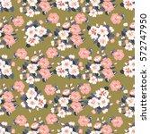 vintage feedsack pattern in... | Shutterstock . vector #572747950