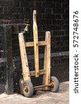 old wooden railway porter's... | Shutterstock . vector #572748676