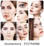 collage of beautiful young... | Shutterstock . vector #572754088