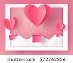 valentines day illustration of...   Shutterstock .eps vector #572762326