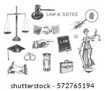 law  justice  police set.... | Shutterstock .eps vector #572765194