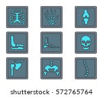 human skeleton x ray bone icon | Shutterstock .eps vector #572765764