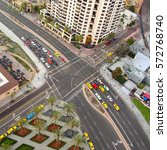 intersection.  from above ... | Shutterstock . vector #572768740