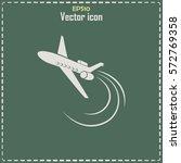 plane icon vector | Shutterstock .eps vector #572769358