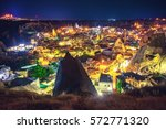 ancient town and castle of... | Shutterstock . vector #572771320