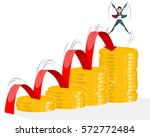 vector illustration of a growth ...   Shutterstock .eps vector #572772484