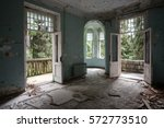 Interior Of Abandoned Mansion...