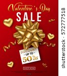valentines day sale banner with ... | Shutterstock .eps vector #572777518