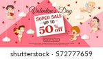 valentines day sale banner with ...