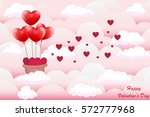 valentine day background. heart ... | Shutterstock .eps vector #572777968