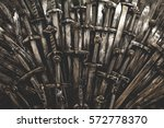 Metal Knight Swords Background...
