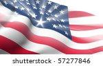 usa shiny flag | Shutterstock . vector #57277846