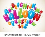 vector of colorful balloon font ... | Shutterstock .eps vector #572779084