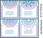set of cards and invitation... | Shutterstock .eps vector #572779510