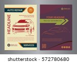 set a4 auto repair business... | Shutterstock .eps vector #572780680