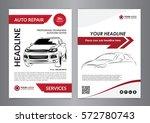 set a4 auto repair business... | Shutterstock .eps vector #572780743