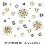 seamless aztec pattern.... | Shutterstock . vector #572782438