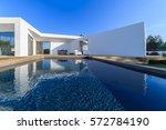 modern house with garden... | Shutterstock . vector #572784190