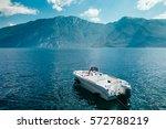 Motor Boat On Beautiful Garda...
