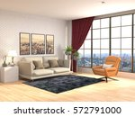 interior with sofa. 3d... | Shutterstock . vector #572791000