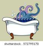 bath  from which peep the... | Shutterstock .eps vector #572795170