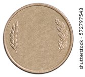 blank bronze coin isolated on... | Shutterstock . vector #572797543