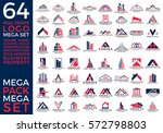 mega set and big group  real... | Shutterstock .eps vector #572798803