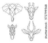 set of geometric african... | Shutterstock .eps vector #572799568