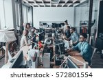 business routine. group of... | Shutterstock . vector #572801554