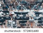 busy working in office. top...   Shutterstock . vector #572801680