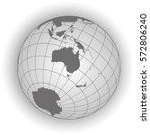 australia or oceania map.... | Shutterstock .eps vector #572806240