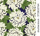 seamless pattern with white... | Shutterstock .eps vector #572810764