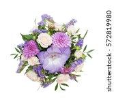 bouquet of purple flowers...   Shutterstock . vector #572819980