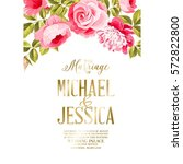 marriage invitation card.... | Shutterstock .eps vector #572822800