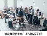 team of innovators.  full... | Shutterstock . vector #572822869