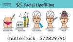 vector illustrated set with... | Shutterstock .eps vector #572829790