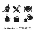 kitchen icon set vector | Shutterstock .eps vector #572832289