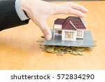 mortgage home | Shutterstock . vector #572834290