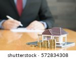 banks approve loans to buy... | Shutterstock . vector #572834308